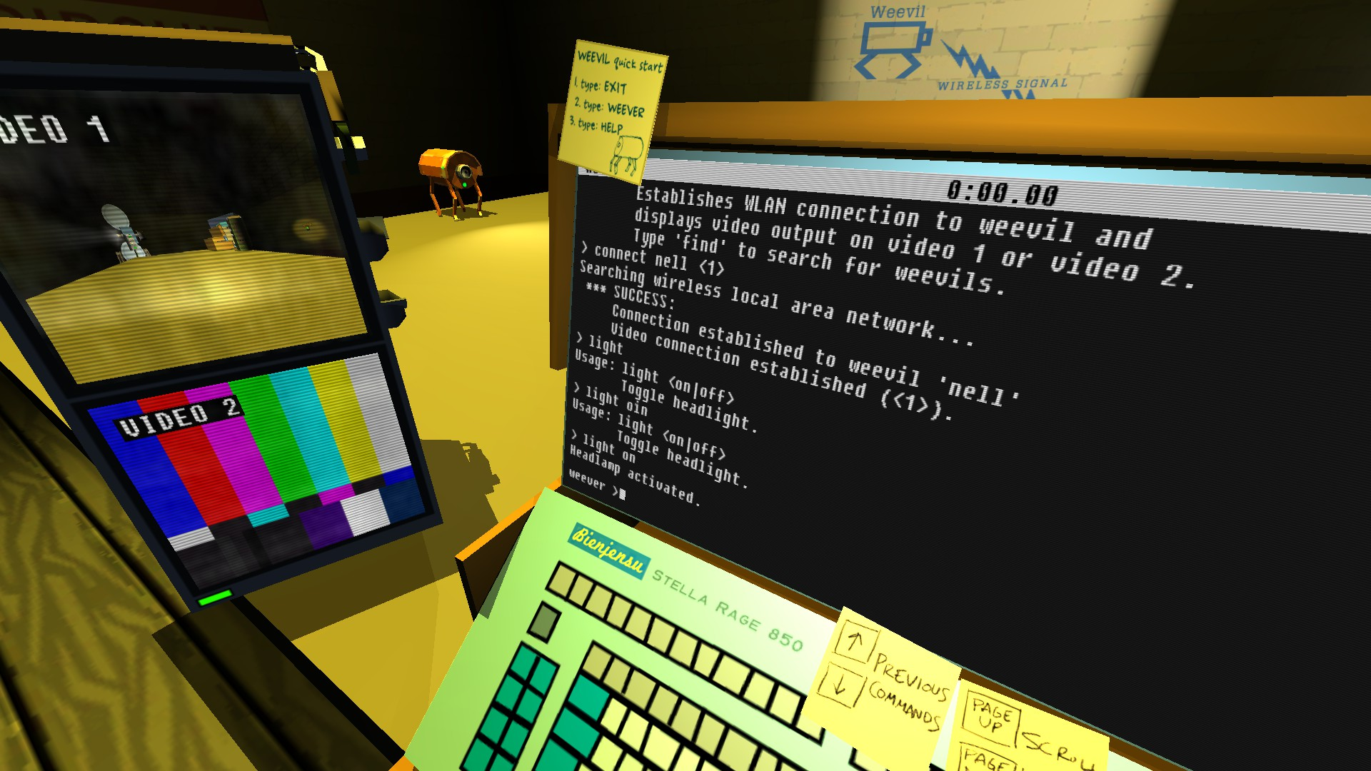 Quadrilateral Cowboy for MacBook gameplay