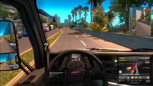 American Truck Simulator Mac OS X gameplay