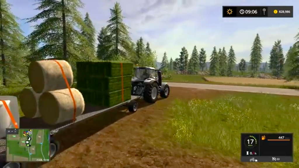 Farming Simulator 17 Mac OS X gameplay