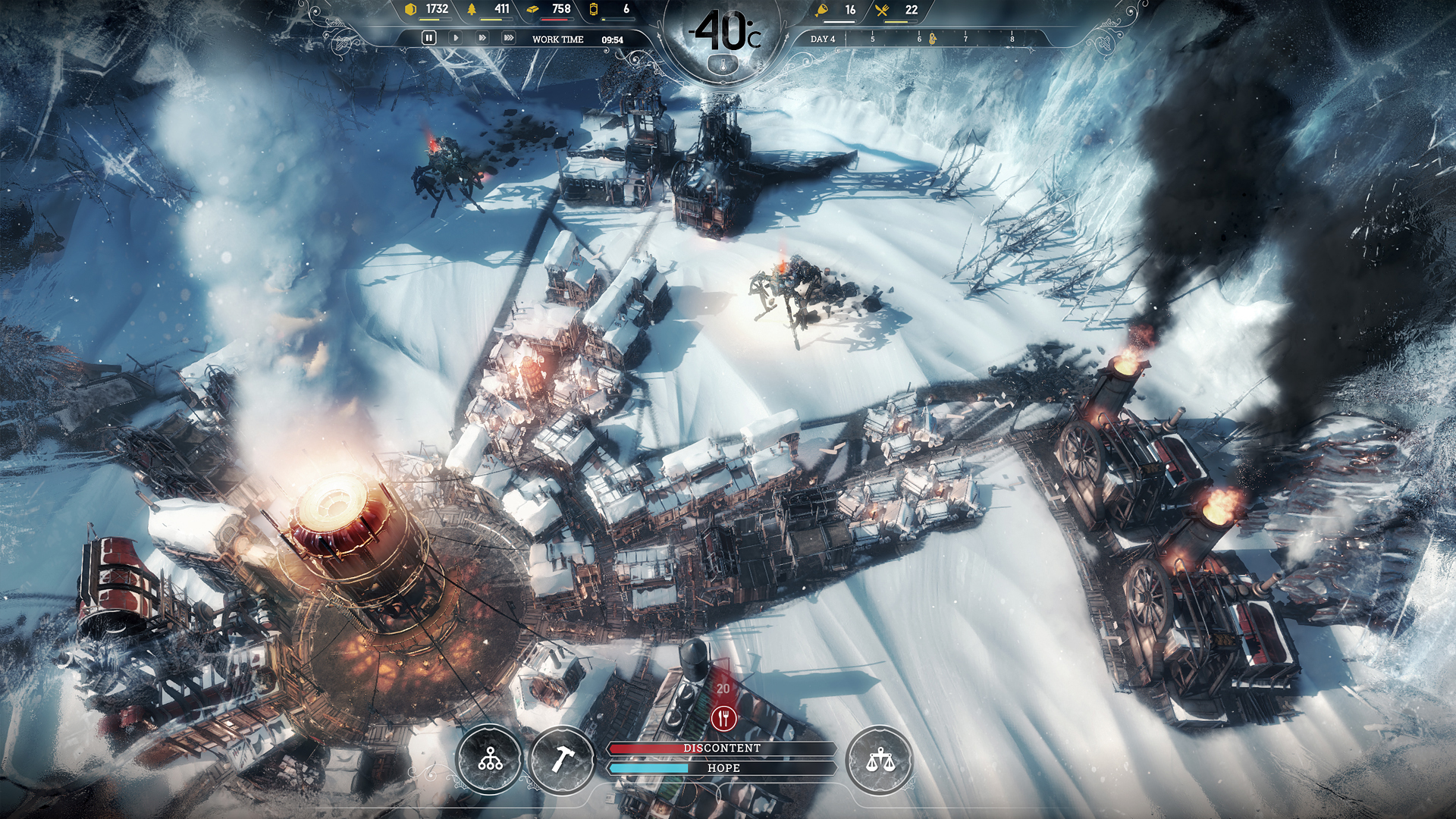 Frostpunk MacBook Version gameplay