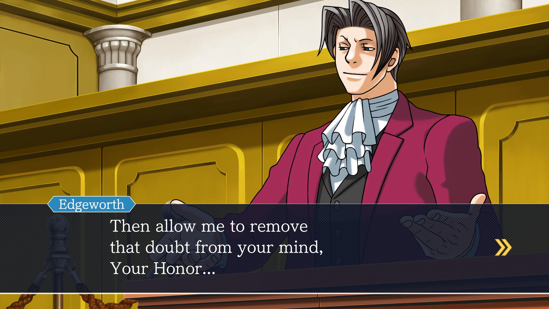Phoenix Wright: Ace Attorney for macOS gameplay