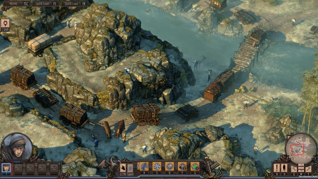 Shadow Tactics: Blades of the Shogun Mac OS X gameplay