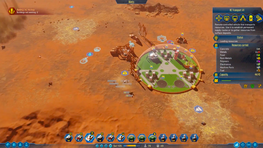 Surviving Mars for MacBook gameplay
