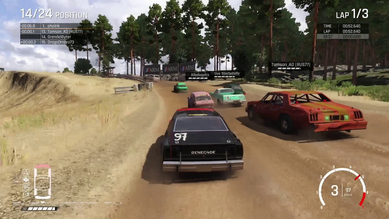 Wreckfest MacBook Version gameplay