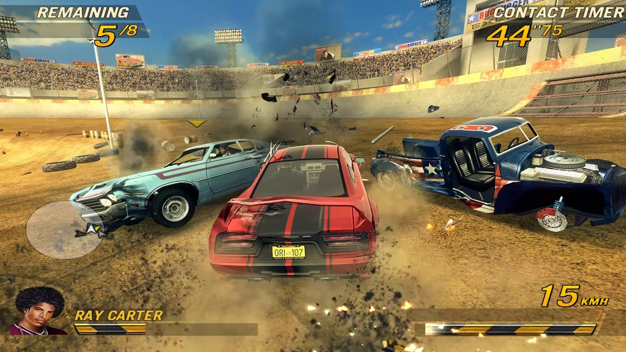 FlatOut 2 MacBook Version gameplay