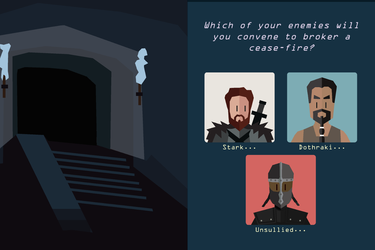 Reigns: Game of Thrones for macOS gameplay