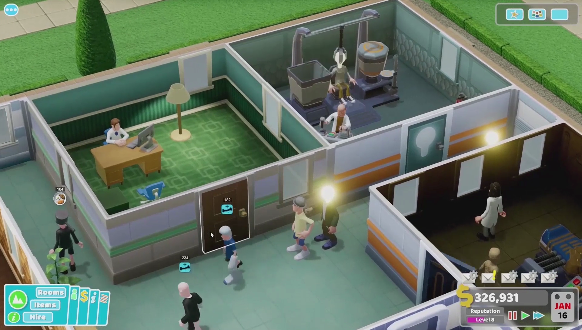 Two Point Hospital for MacBook gameplay