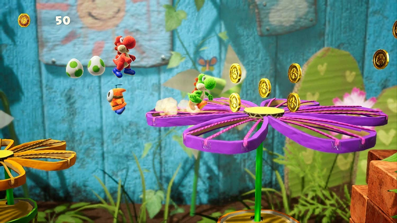 Yoshi's Crafted World MacBook OS X Version gameplay
